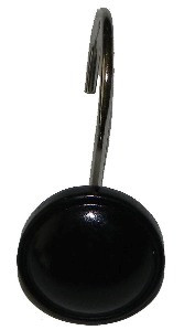 Color Rounds Shower Hooks - Black