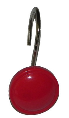 Color Rounds Shower Hooks - Red