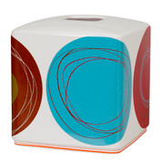 Dot Swirl - Tissue Box