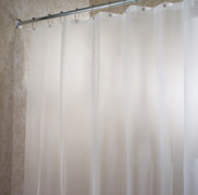 EVA Shower Curtain Liner - Stall size - Frosted Clear