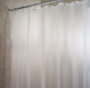 EVA Shower Curtain Liner - Extra Long sizes - Frosted Clear