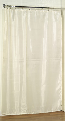 """Extra Long Fabric Shower Curtain Liner 78"""" long - Ivory"""