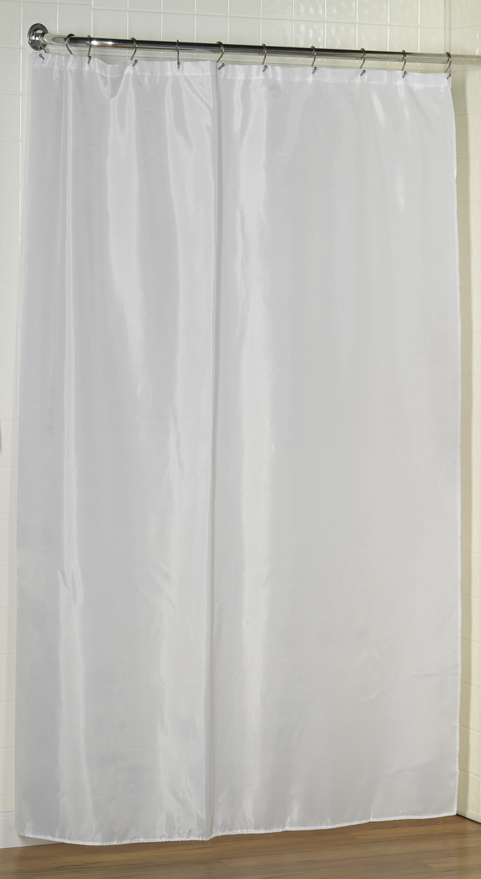 Extra Long Fabric Shower Curtain Liner 84