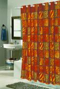 EZ On Shower Curtain - No Shower Hooks required - Wild Encounter