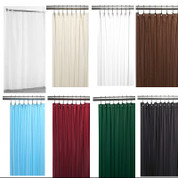 Solid Color Fabric Shower Curtain/Liner