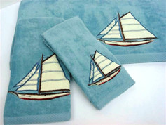 Fair Harbor Embellished 3pc Towel SET