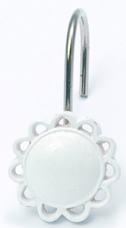 FilIgree Shower Hooks (set of 12) - White