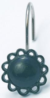 FilIgree Shower Hooks (set of 12) - Black