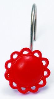 FilIgree Shower Hooks (set of 12) - Red