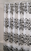 Fiore Vinyl Shower Curtain - Black