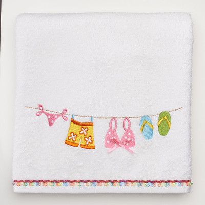 Hanging Loose bath towel shower curtain & bathroom accessories collection from Saturday Knight Ltd