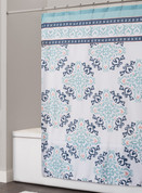 Cathleen Fabric Shower Curtain from Saturday Knight