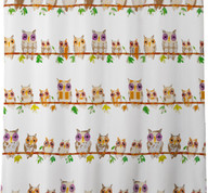 Hoot - Fabric Shower Curtain