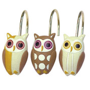 Hoot - Shower Hooks - set of 12
