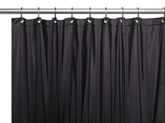 Hotel Quality Vinyl Shower Curtain Liner - Black