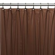 Hotel Quality Vinyl Shower Curtain Liner - Brown