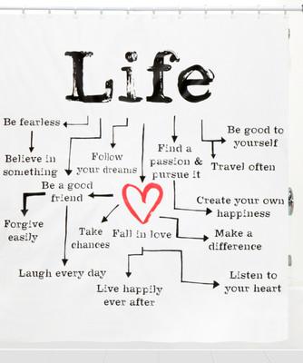 Life Chart Shower Curtain