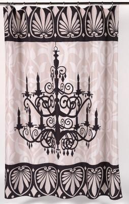 Luminere Chandelier Shower Curtain