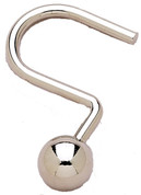 Metal Ball Type Shower Curtain Rings/Hooks - Chrome