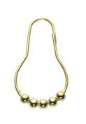 Metal Roller Shower Rings/Hooks - Brass