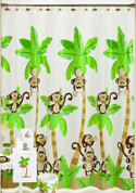 Monkey Town - Vinyl Shower Curtain