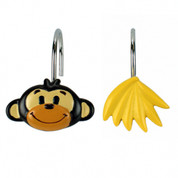 Monkey Town - Shower Curtain Hooks - set of 12