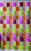 Peace Out - Vinyl Shower Curtain