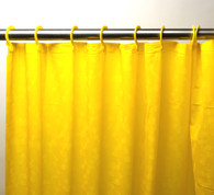 PEVA Shower Curtain with Built in Hooks - Yellow