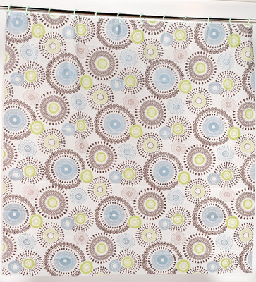 PEVA Shower Curtain with Built in Hooks - Jasmine