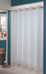 Plainweave Hookless Fabric Shower Curtain White
