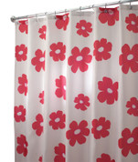Poppy Shower Curtain - Red