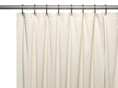 Premium Vinyl Shower Curtain Liner - Bone
