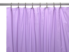 Premium VINYL Shower Curtain Liner - Lilac