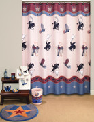 Rodeo - Fabric Shower Curtain