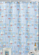 Sailing - Fabric Shower Curtain
