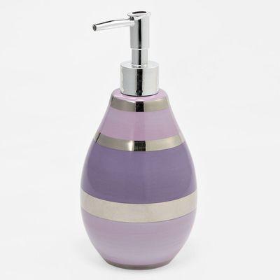 Shimmer Stripes lilac lotion dispenser