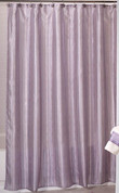 Shimmer Stripes - Fabric Shower Curtain