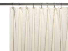 Solid Vinyl Shower Curtain Liner 3 gauge - Bone