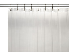 Solid Vinyl Shower Curtain Liner 3 gauge - Clear