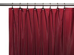 Solid Vinyl Shower Curtain Liner 3 gauge - Burgundy