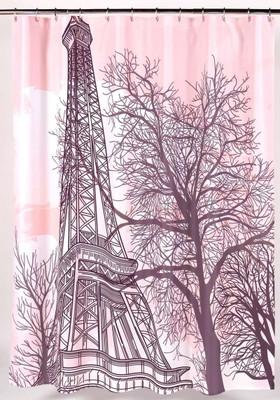Tour Eiffel Tower Shower Curtain