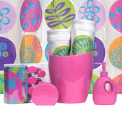 Vibes PINK - Lotion Pump and Toothbrush Holder SET