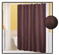 Waffle Weave FABRIC Shower Curtain - BROWN