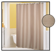 Waffle Weave FABRIC Shower Curtain - LINEN