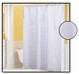 Waffle Weave FABRIC Shower Curtain - WHITE