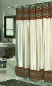 Zuri Leopard Faux Fur Shower Curtain