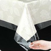 Clear Vinyl Tablecloth - 54x54 Square