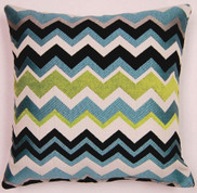 Chevron Throw Pillows (Set of 2) - Aquamarine