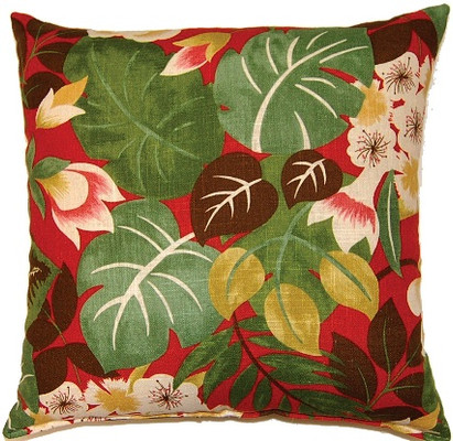 Isla Throw Pillows (Set of 2) - Crimson