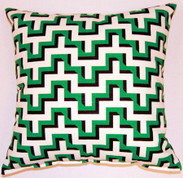 Jigsaw Throw Pillows (Set of 2) - Malachite